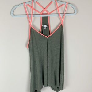 American Eagle Outfitters Olive Green Tank Top MD